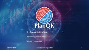 PlanQK Konsortialtreffen August 2020
