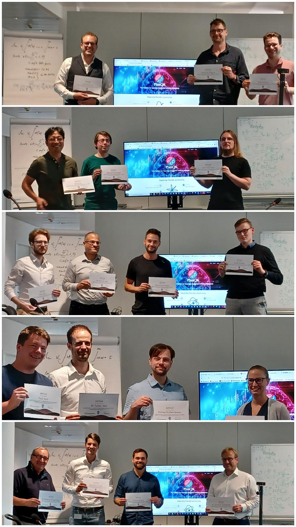 Bild: Alle Teams des PlanQK Hackathon